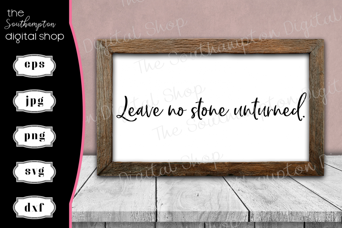 Leave No Stone Unturned example image 1