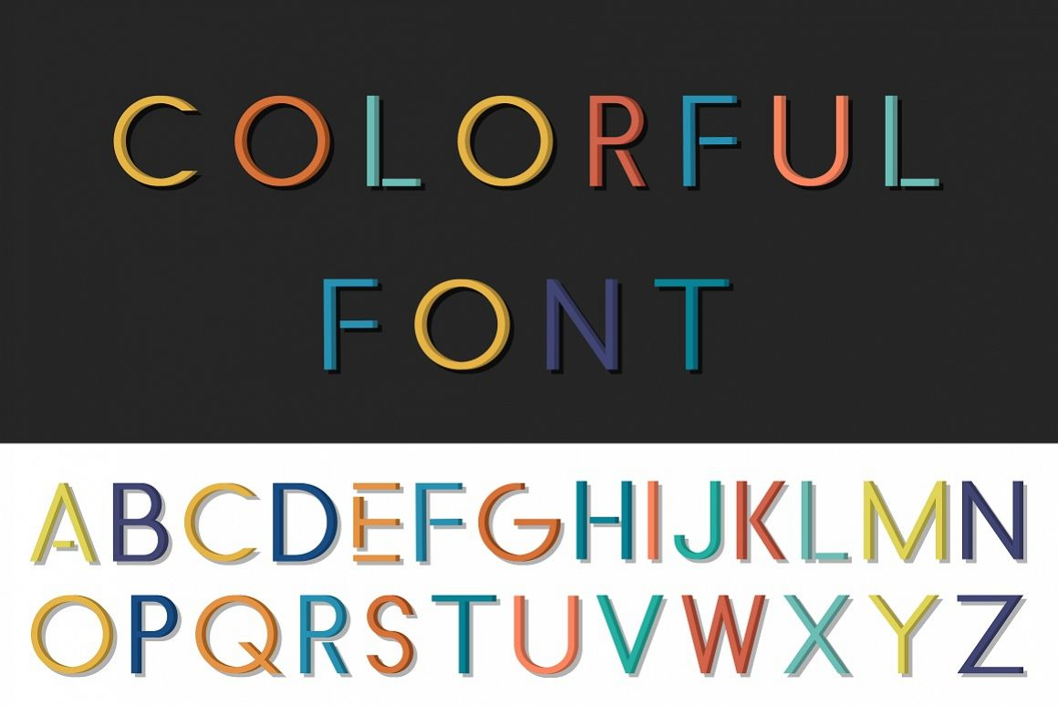 Colorful font - english alphabet example image 1