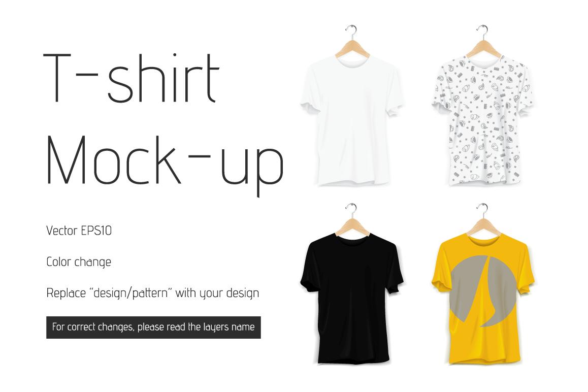 Vector T-shirt Mock-up Mockup Template example image 1