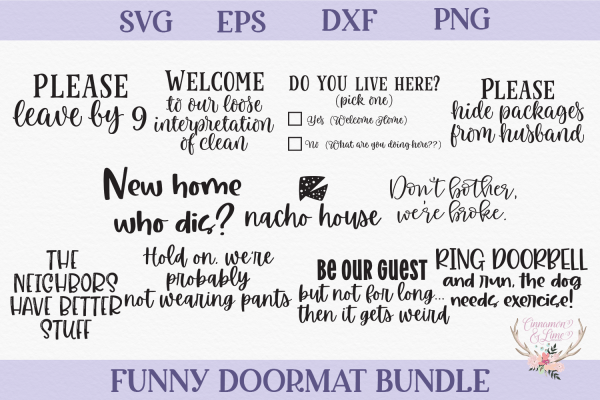 Funny Doormat SVG Bundle example image 1
