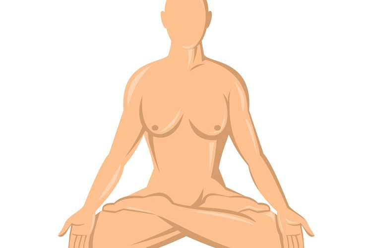 female human anatomy yoga lotus example image 1
