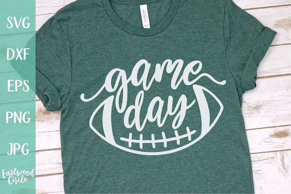 Game Day - Football SVG File for Crafters example image 1