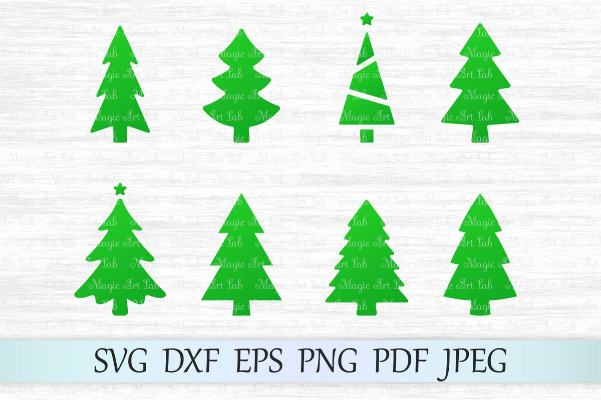 Christmas Tree Clipart Images.Christmas Tree Svg Bundle Christmas Trees Clipart
