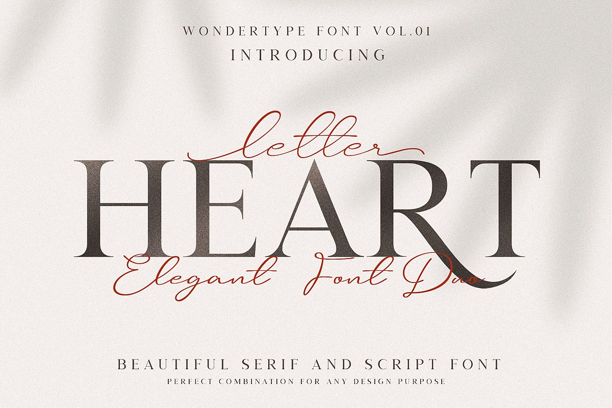 Letter Heart Font Duo example image 1