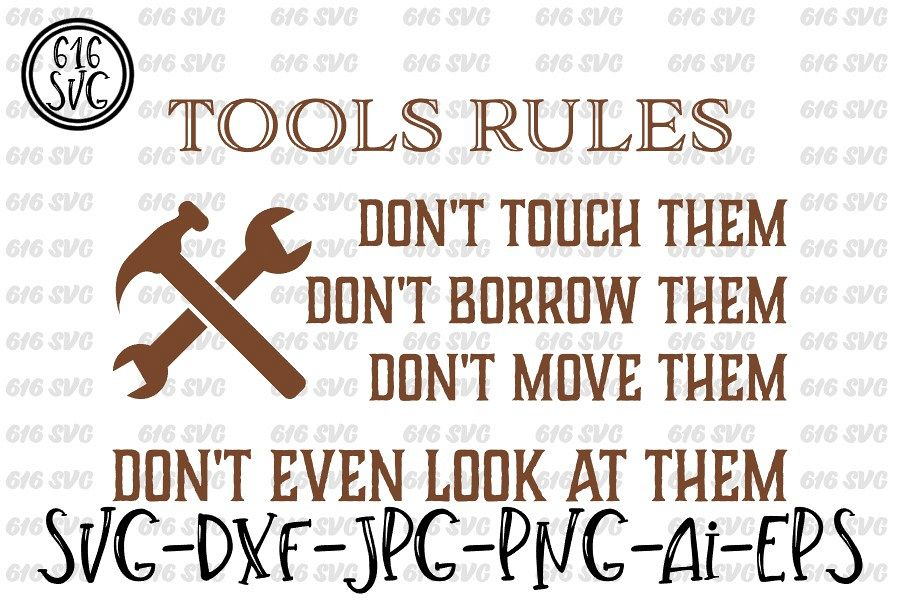 Tools Rules SVG, DXF, Ai, PNG example image 1