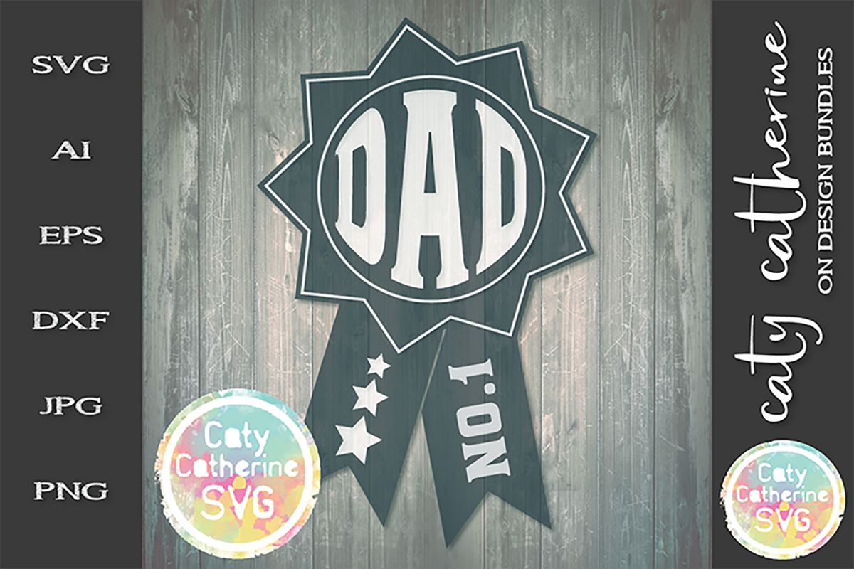 Dad Father's Day Award SVG Cut File example image 1