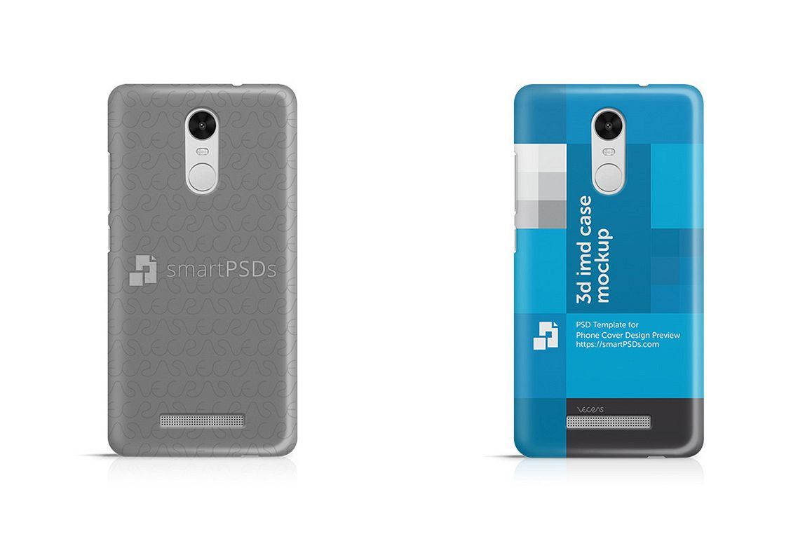 best service 5da89 bf410 Xiaomi Redmi Note 3 3d IMD Mobile Case Design Mockup 2016