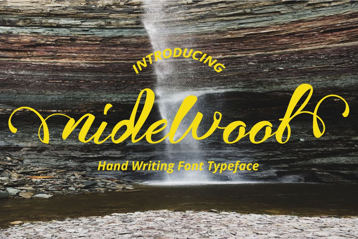 nidewoof font example image 1