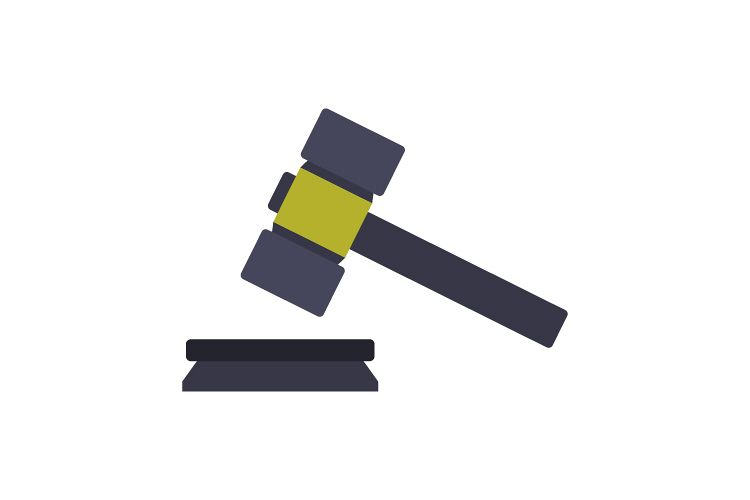 Hammer judge icon example image 1