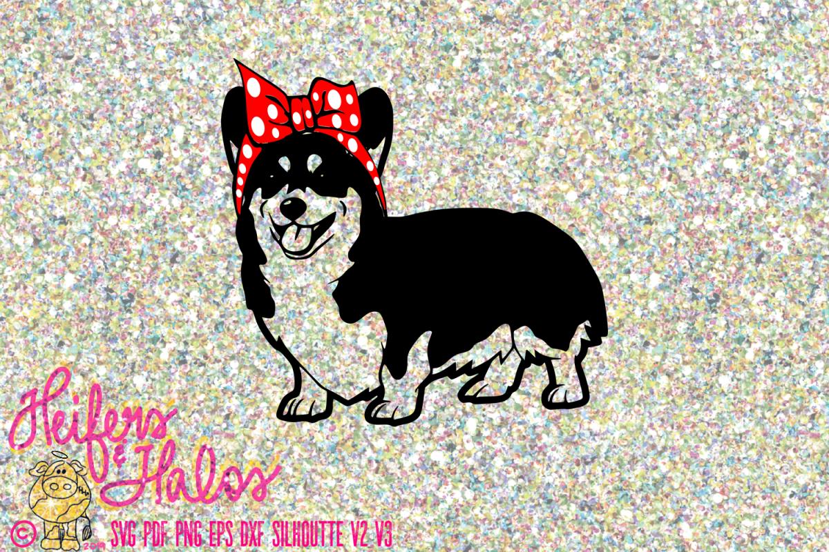 Corgi Dog with Bandana Bow example image 1