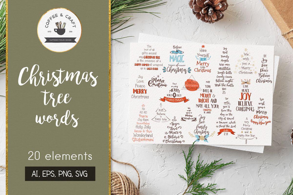 Christmas Tree Words example image 1
