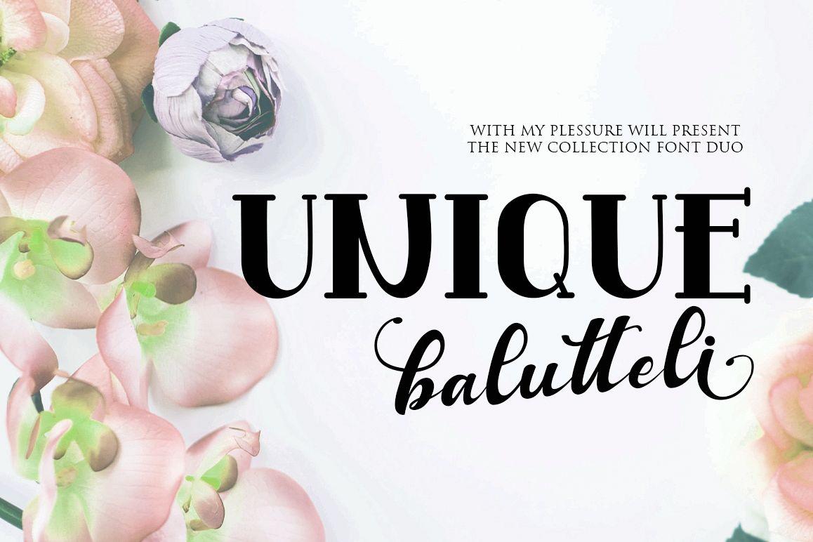 Antique Balutteli Font Duo example image 1