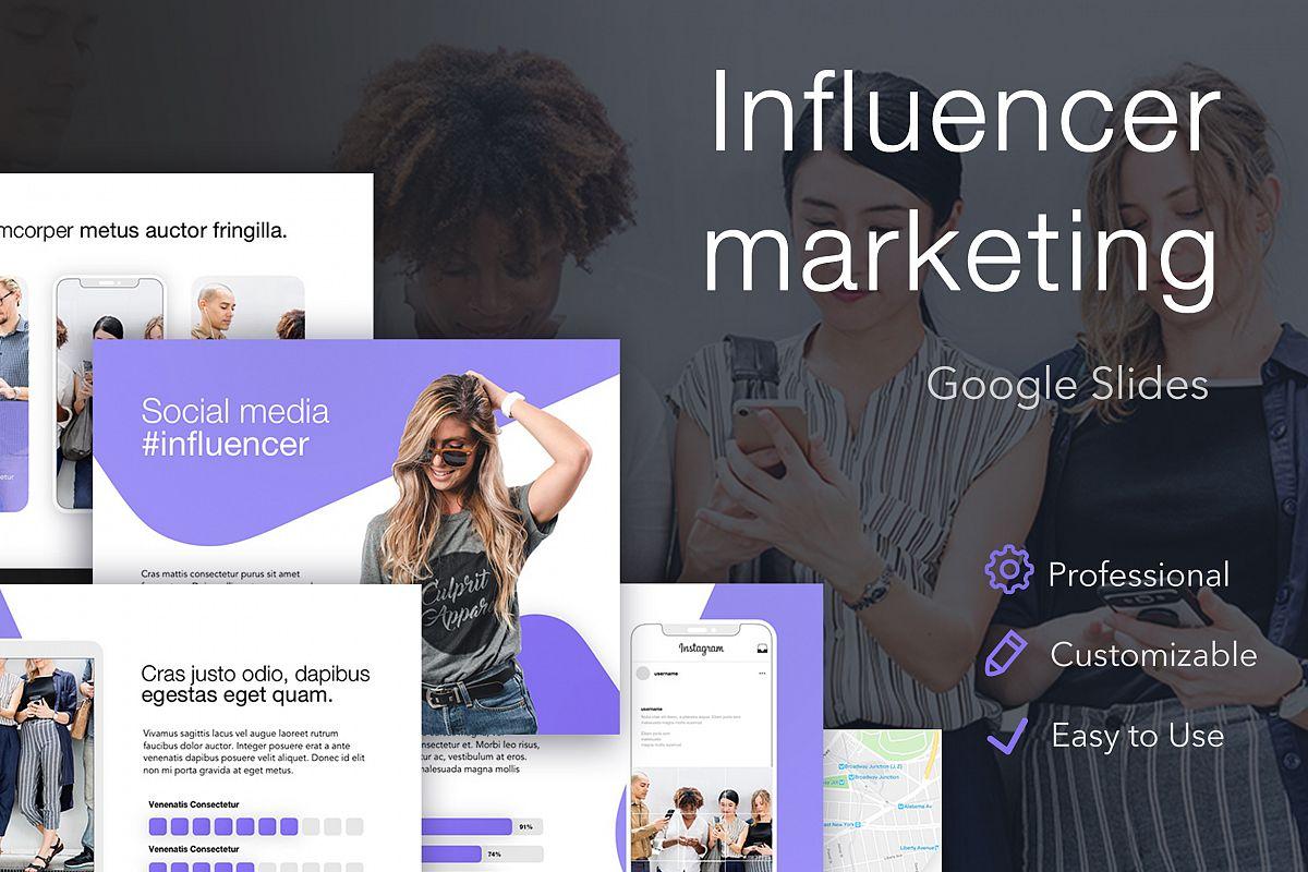Influencer Marketing Google Slides Template example image 1