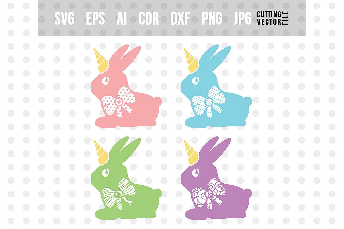 Bunny Unicorn SVG - Bundle example image 1