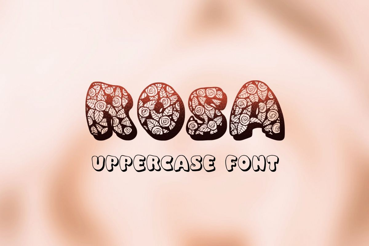 Rosa font example image 1