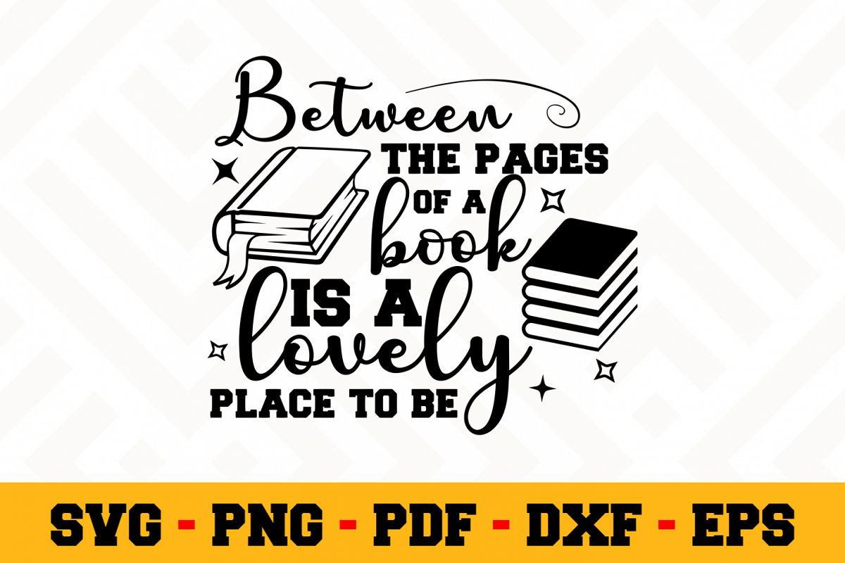 Book Lover SVG Design n620 | Reading SVG Cut File example image 1