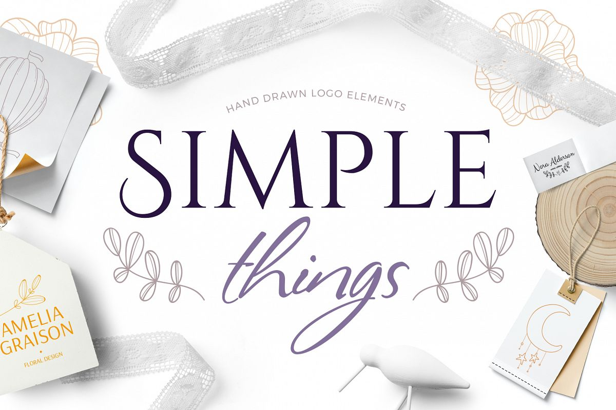 Simple things branding set example image 1