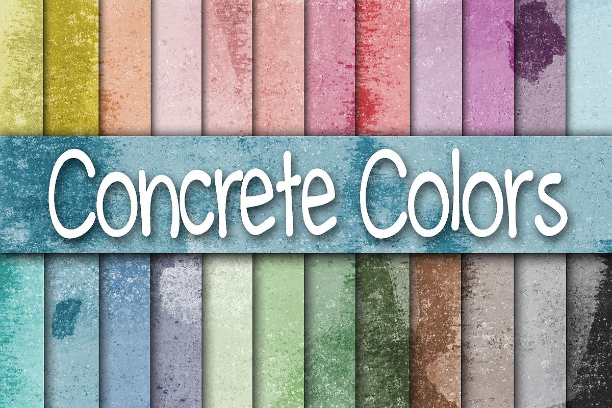 Colorful Concrete Wall Textures Digital Paper example image 1