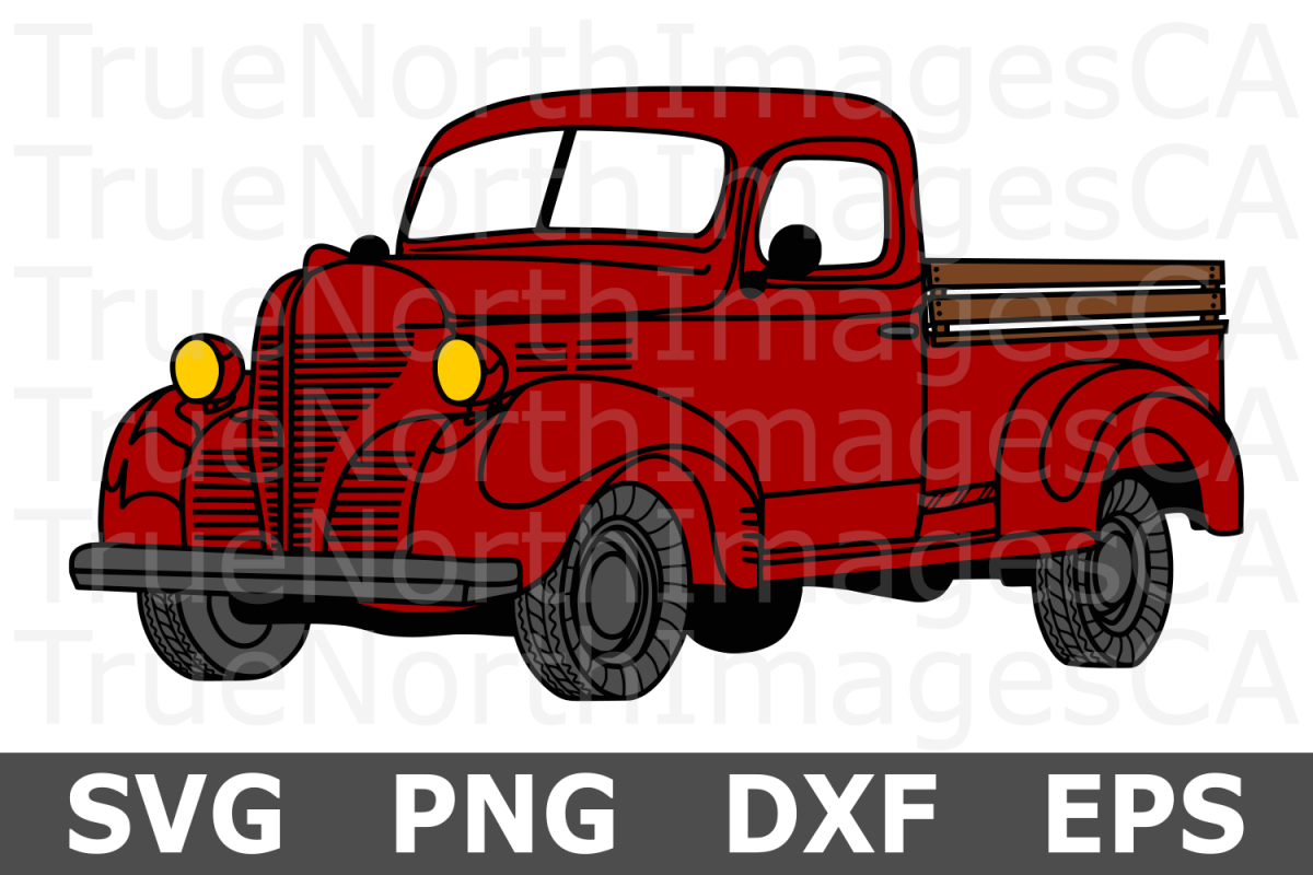 Truck - A Christmas SVG Cut File example image 1
