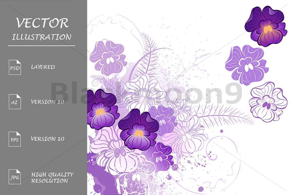 Stylized Violets example image 1