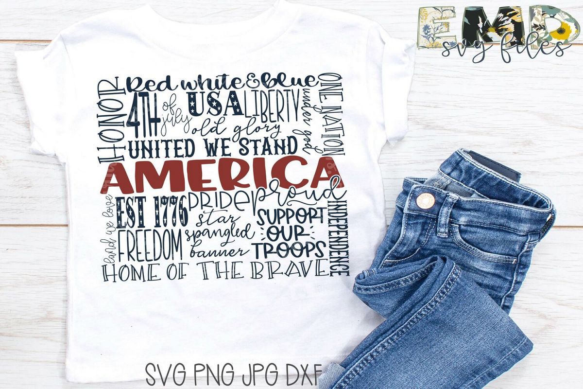 4th of July Svg | Independence Day Svg Jpg Png Dxf example image 1