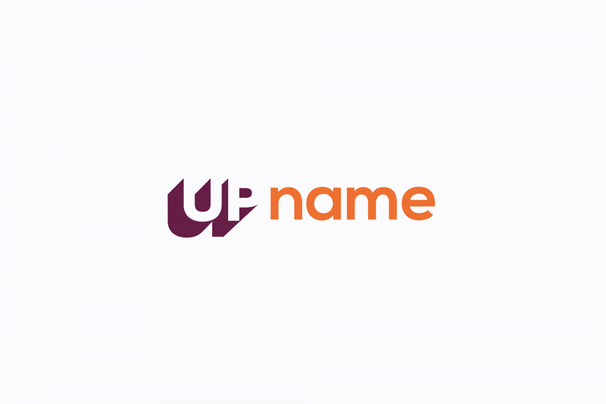 UP name logo example image 1