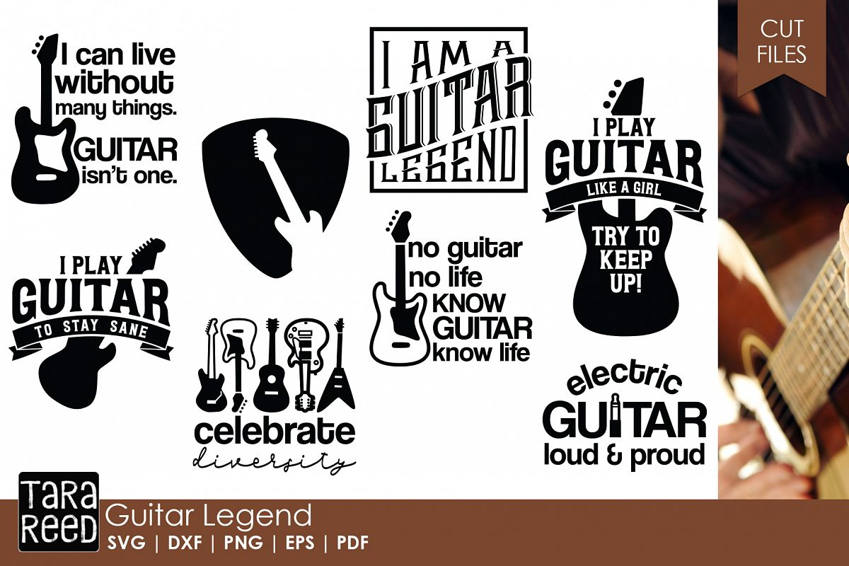 Guitar Legend - Guitar SVG & Cut Files for Crafters example image 1