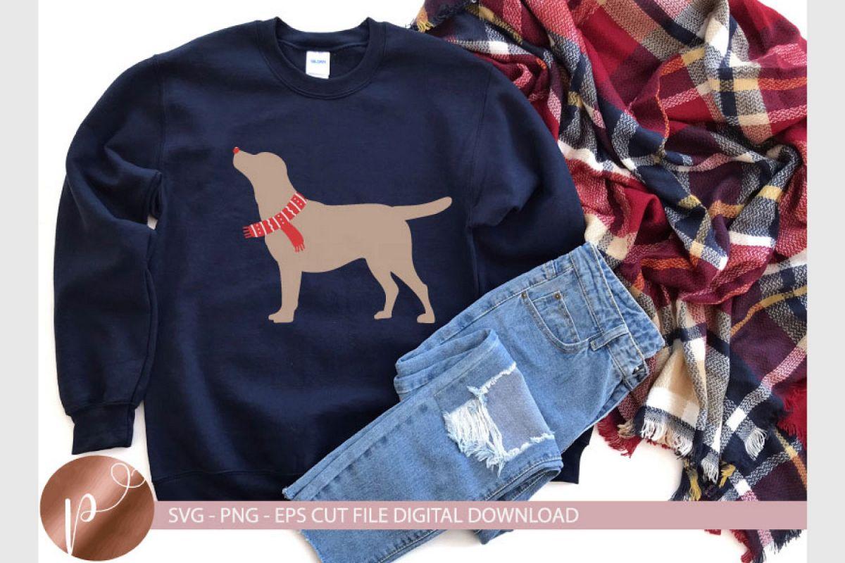 Christmas Labrador Dog Svg Eps Png, Cute Shirt Design Cricut example image 1
