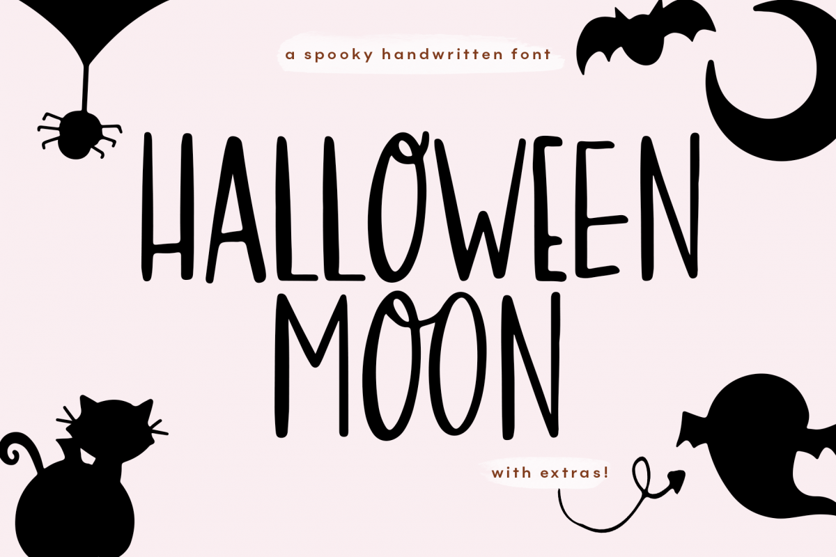 Halloween Moon - A Halloween Font with Extras! example image 1