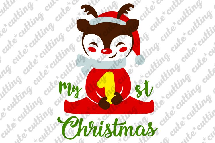 My First Christmas.My First Christmas Svg My 1st Cristmas Svg Dxf Png Jpeg