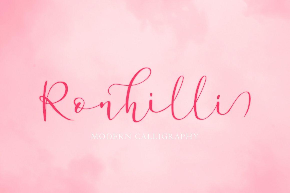 Ronhilli Script Font example image 1