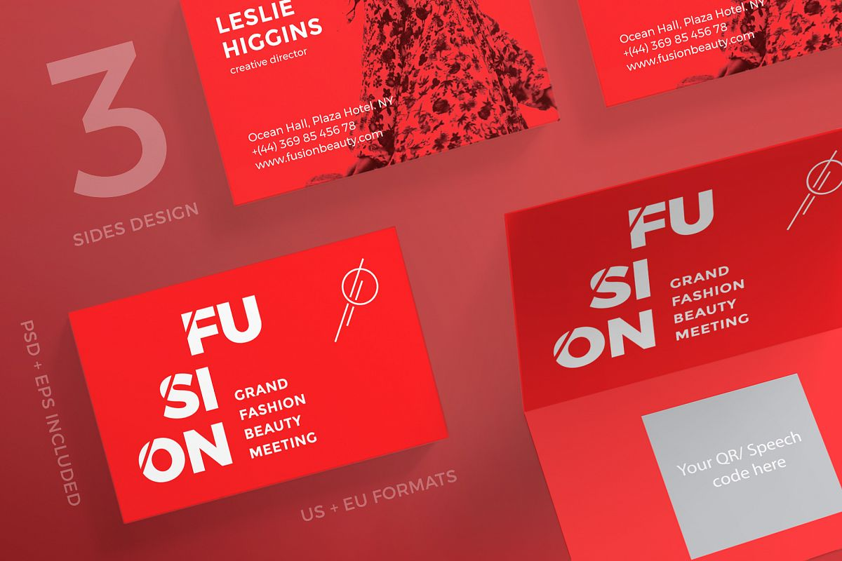 Fusion business card design templates k design bundles fusion business card design templates kit example image accmission Image collections