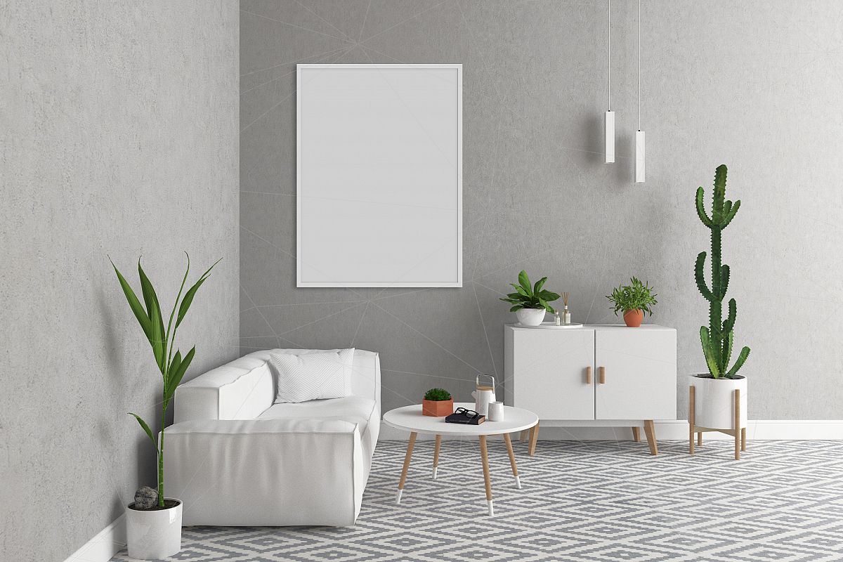 Interior Mockup Bundle Blank Wall Mock Up