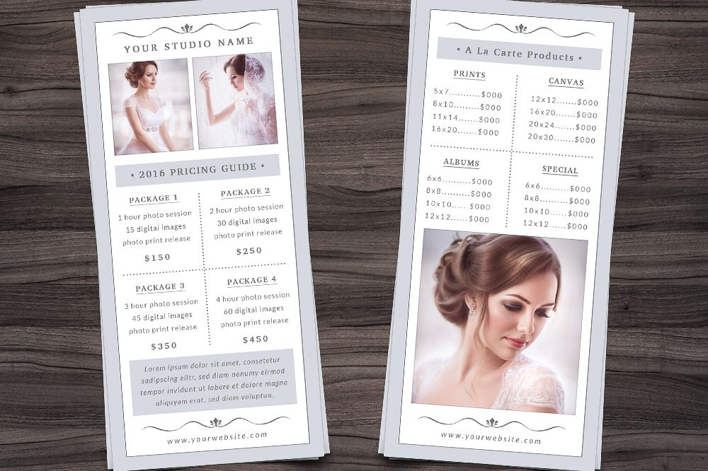Photography Rack Card Template example image 1
