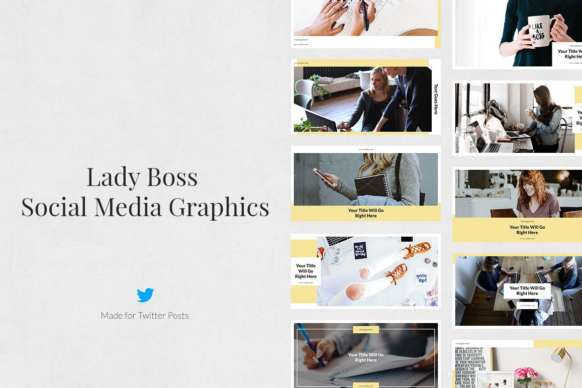 Lady Boss Twitter Posts example image 1
