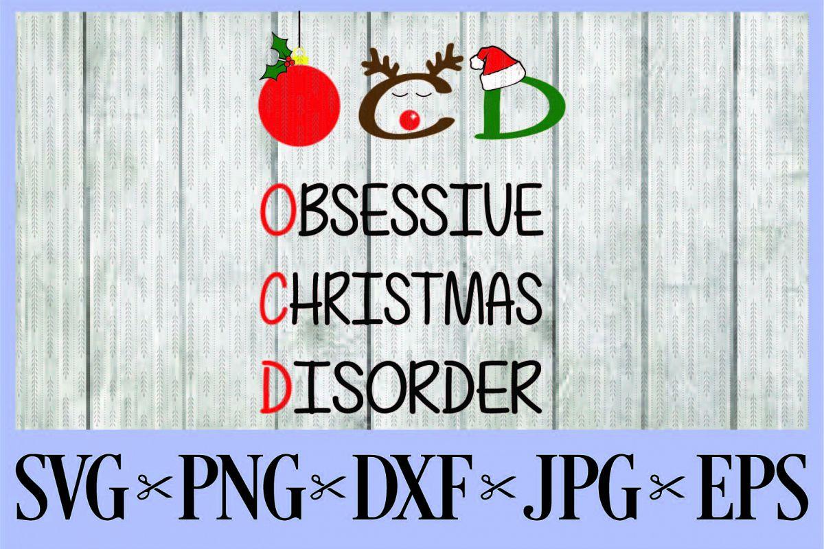 OCD Obsessive Christmas Disorder SVG, P | Design Bundles