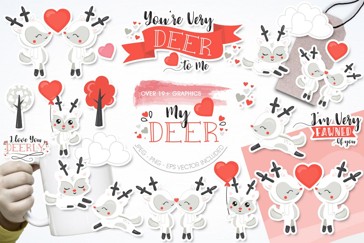 My Deer graphic and illustrations example image 1