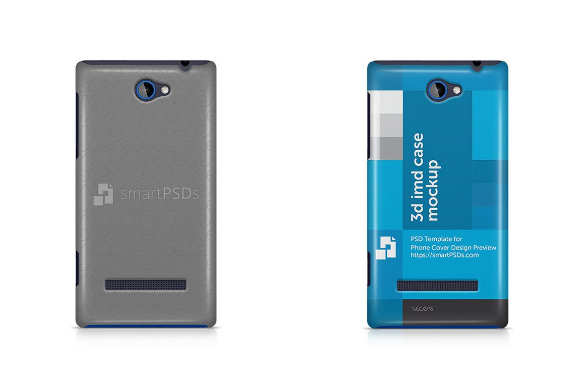 HTC Windows Phone 8S 3d IMD Mobile Case Design Mockup 2012 example image 1