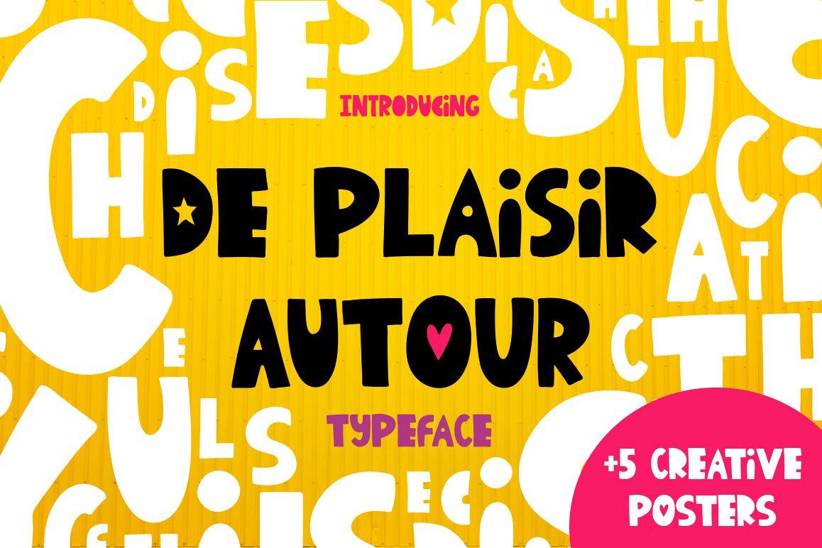 De Plaisir Autour - typeface example image 1