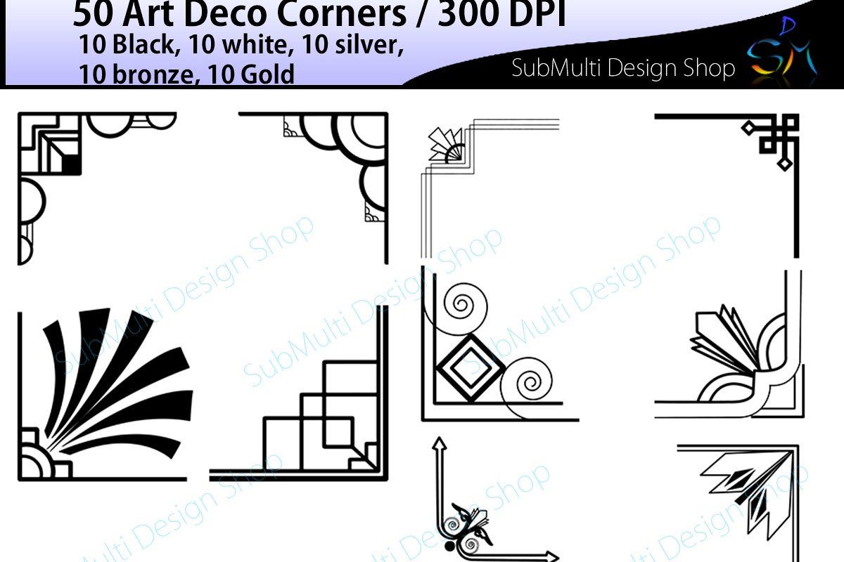 art deco art deco corners art deco corners clipart