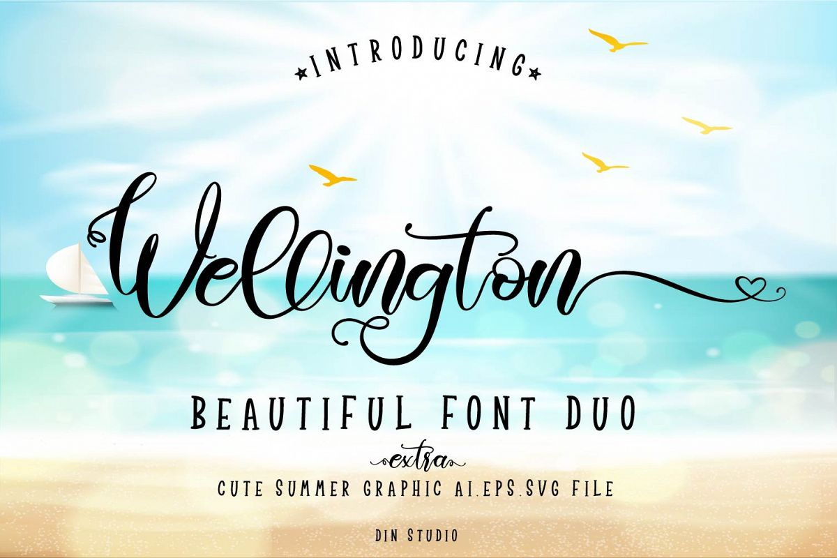 Wellington Font Duo  Extras example image 1