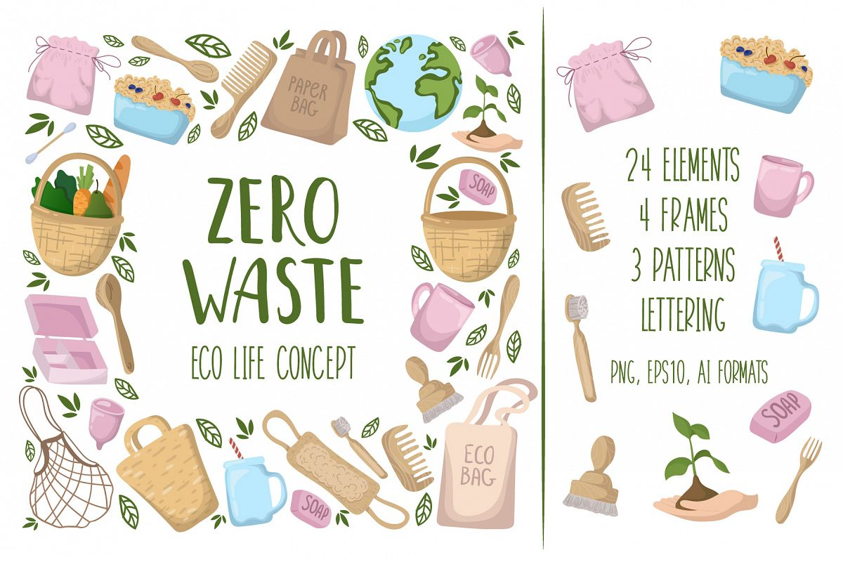 Zero Waste - Vector Collection example image 1