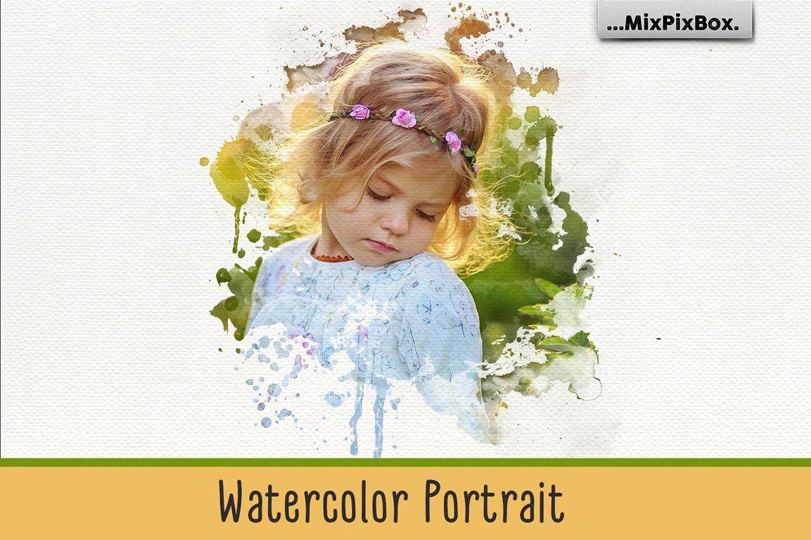 Watercolor Portrait Photo Masks example image 1