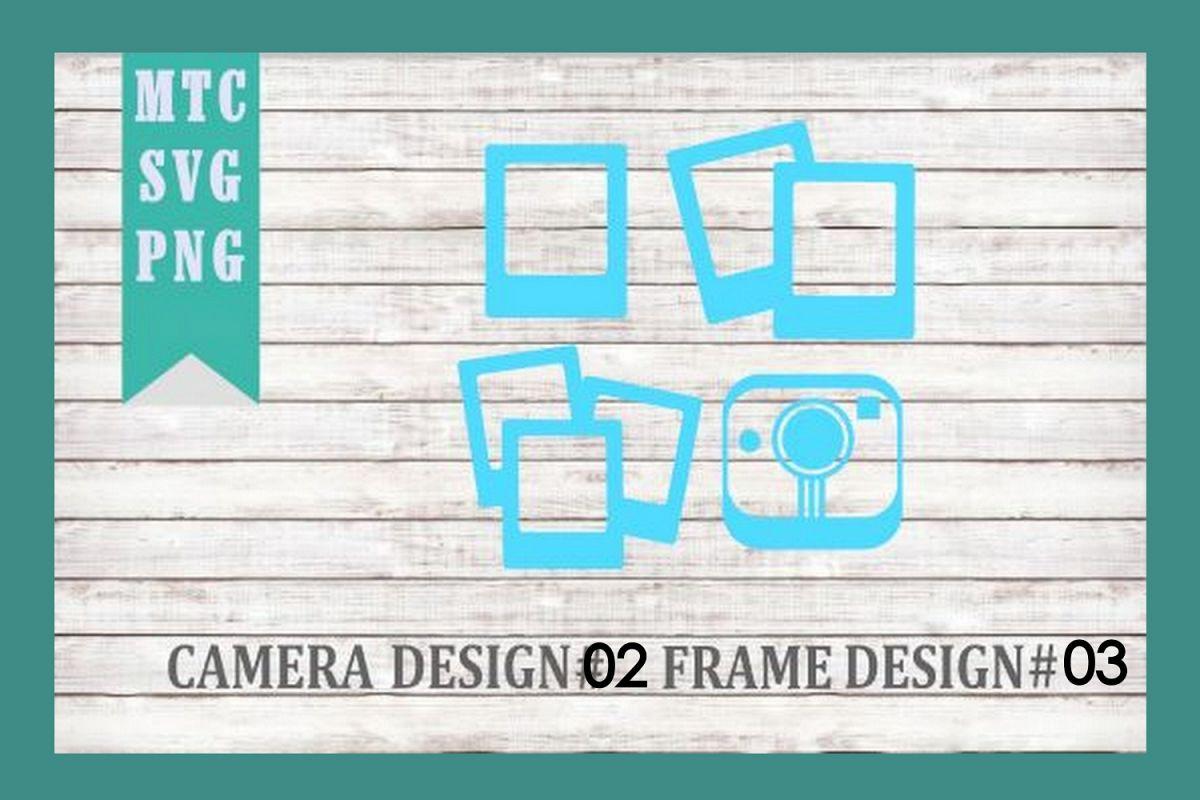 Polaroid Camera 02 & Film Frames 03 SVG Cut File example image 1