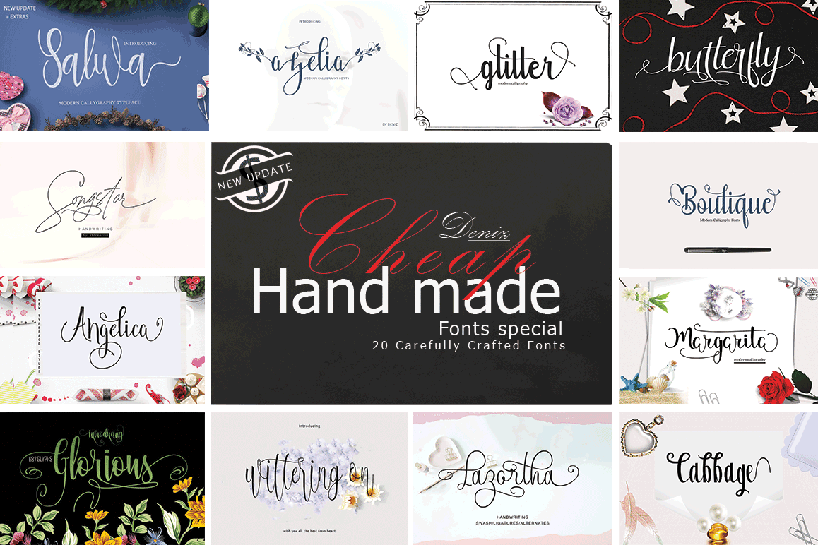 20 Incredible Handwritten Fonts example image 1