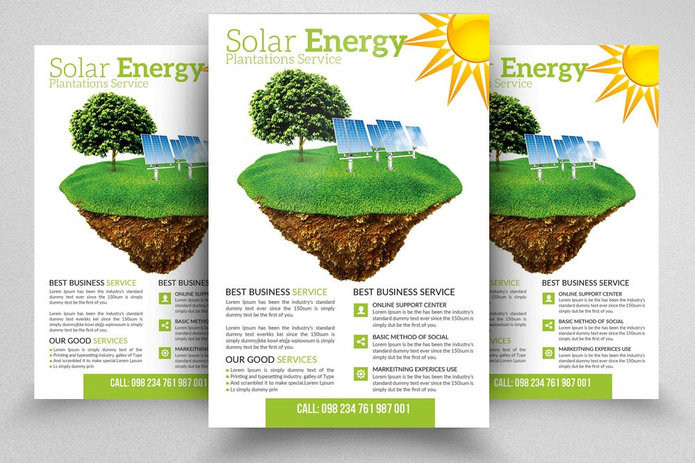 Green Energy Flyer Templates example image 1