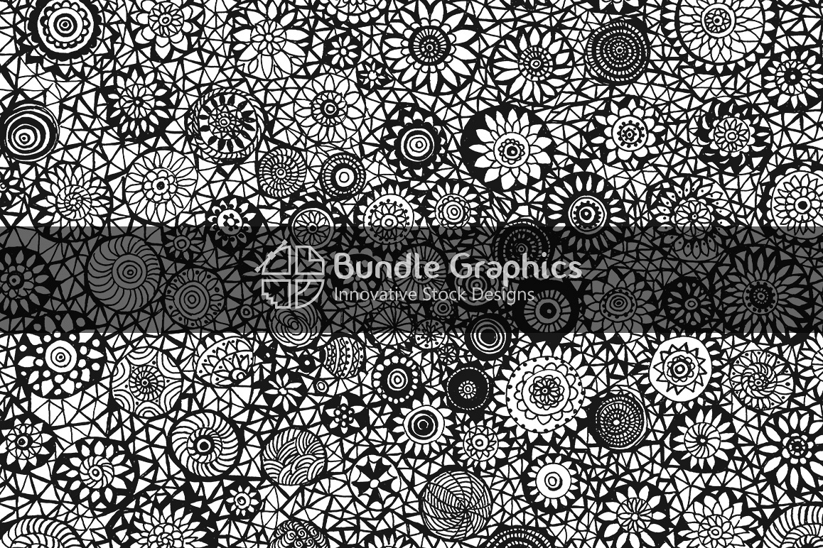 Doodle Cirlces - Handmade Ink Graphic Background example image 1