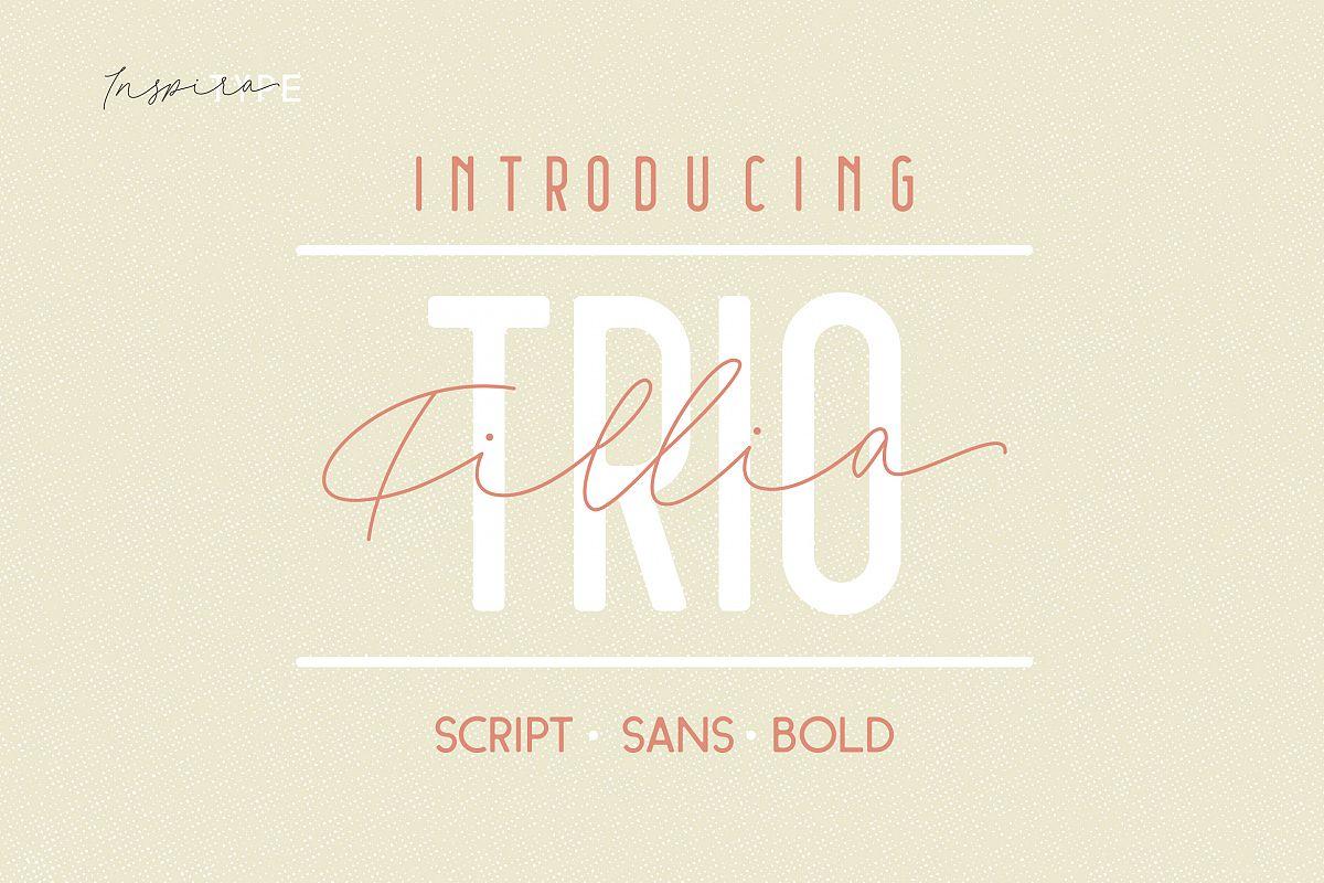 Filia Trio - Script, Sans, and Bold example image 1
