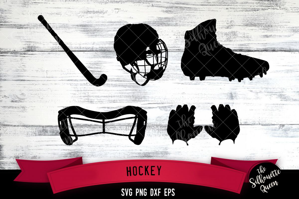 Hockey Equipment svg file, Sticksvg cut file example image 1