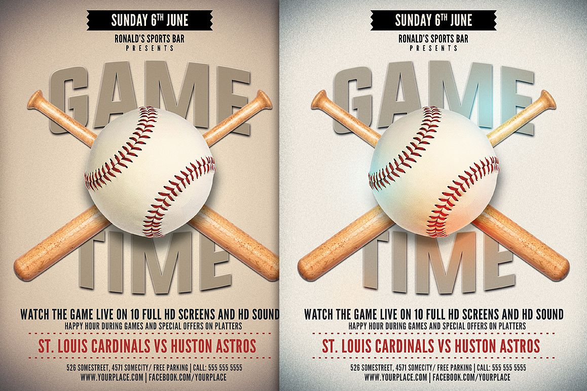 Baseball Game Flyer example image 1